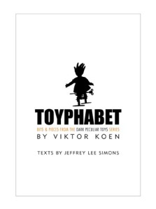 Cover of Toyphabet, the new collaboration by Viktor Koen and Jeffrey Lee Simons